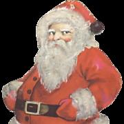 SALE Standing Santa Claus Nostalgic Christmas die-cut ~ Mid Century Nice