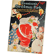 SALE Christmas issue Dennison's Christmas Book soft cover Dennison Company 1924 Santa Cover