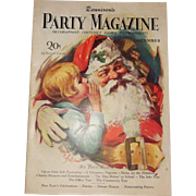REDUCED Dennison's Party Magazine 1927 December Christmas with Santa cover issue hard to fin