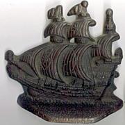 SALE Cast iron Spanish Galleons Bookends/Door stops