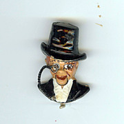 REDUCED Charlie McCarthy articulated pin Coro 1937 Cute!