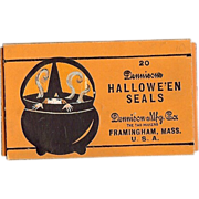 SALE Halloween decoration twenty seals depicting a Scary Witch in a Steamy Cauldron - Dennison