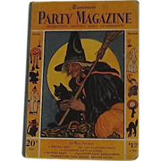 REDUCED Dennison's Party Magazine 1928 Halloween October – November issue Rare Hard cover!