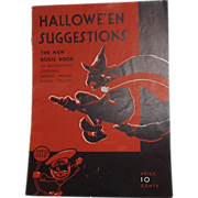 SALE Dennison's Halloween Suggestions The new Bogie Book 1931 Halloween issue Excellent!