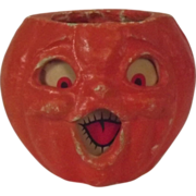 REDUCED Halloween decoration pulp Paper Mache Large Double faced Choir Jack O Lantern Made in