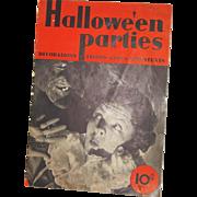 SALE Dennison's Halloween Parties magazine 1935 Halloween issue