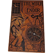SALE Witch of Endor Fortune telling Halloween game decoration Naumkeag Games Co Salem Ma 1929
