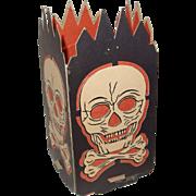SALE Skull & Crossbones Lantern Halloween decoration – Beistle Co. USA 1940s – 1950s