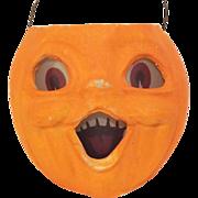 "REDUCED Vintage medium size Paper Mache ""egg crate"" Choir boy Jack O' Lantern pumpkin Ha"