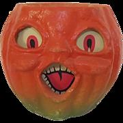 SALE Halloween decoration pulp Paper Mache Medium Choir Jack O Lantern Made in the USA ...