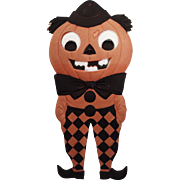 SALE Large Halloween decoration Jack O' Lantern Man with diamond pants heavily embossed die