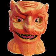 SALE Halloween decoration pulp Paper Mache Scary Devil head Jack O Lantern Made in USA ...