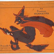 SALE Dennison witch on a broom silhouettes circa 1927