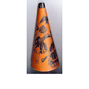 REDUCED Halloween noisemaker – Paper over Cardboard horn – USA 1940s