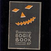 REDUCED 1922 Annual Edition Dennison's Bogie Book Halloween collectable excellent