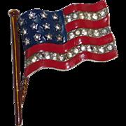 REDUCED Patriotic Stars & Stripes US Flag brooch/pin World War II – Alfred Philippe designer