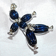 SALE Trifari 'Alfred Philippe' Blue Rag Doll Pin - 'Tom Tom' 1949