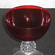 Morgantown Golf Ball Sherbet, Spanish Red