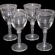 Fostoria Tempo Water Glasses, set of 4