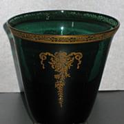 Tiffin Melrose Green Sweet Pea vase