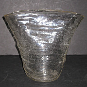 Consolidated Catalonian Crystal Fan Vase