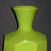 Royal Haeger Chartreuse Faceted Vase