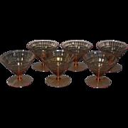 Utility Glass Works Mandalay Sherbet Glasses, set of 6