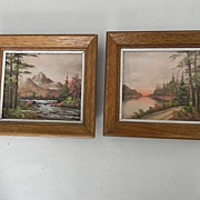 SALE Pair of Small Landscape Oil Paintings.