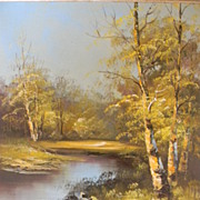 SALE Spring Landscape Oil on Canvas by Artist Antonio Tano.