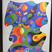 Sam Maitin (1928 - 2004) . listed artist . Abstract Limited Edition