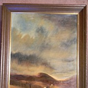 "Ed Wolff .  28"" x 22"" Framed Landscape Oil Painting"