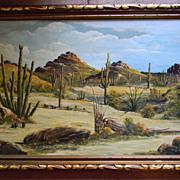 "SALE Paul Blum .  40"" x 28 1/2"" Framed Southwest Oil on Canvas painting."