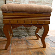 Vintage Stool / Bench with Lift up Top Storage