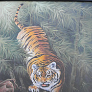 "Hue Chang . Oil Painting on 20"" x 24"" Canvas Tiger"