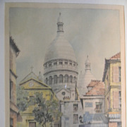 Barday . Signed Etching  .  Paris