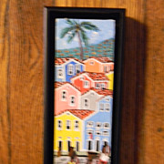 Small Colorful Painting . Signed