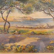 Watercolor Painting . Landscape . Great Colors