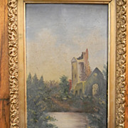 Antique Oil Painting on Canvas  .