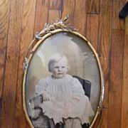 SALE Most Beautiful Baby on the Internet Today . In 20 x 14 Bubble Glass Ornate Frame.