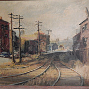 "Louise Reed . Signed Painting - ""Castle Crossing on the FallBrook Line"""