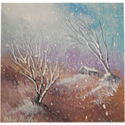 "Robin Bolton . "" Snowscape 4 "" . Winter Landscape Painting on Canvas"