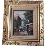 Henry Rogers listed artist - Oil Painting on Canvas - Paris Scene