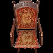 Antique Philander Derby Victorian Folding Chair - Gardner, Mass - No. 560