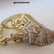 SOLD Pretty Snake Chain And Shell Necklace - Red Tag Sale Item