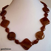 Red Aventurine Single Strand Necklace