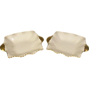 Shelley England Bone China Pair Ash Trays White