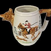 SOLD Sigma Hunting Riding  Scene Equestrian Fox Hound Pitcher