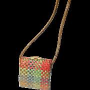 Vintage Retro Wicker Straw Rodo Ladies Bag ITALY