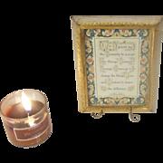Florentine Florentia Gold Gilt Hand Painted Framed Serenity Prayer ITALY Numbered