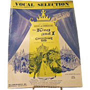 Vocal Selection Sheet Music The King and I by Rodgers and Hammerstein